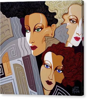 Woman Times Three Canvas Print