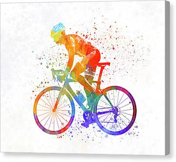 Woman Triathlon Cycling 01 Canvas Print