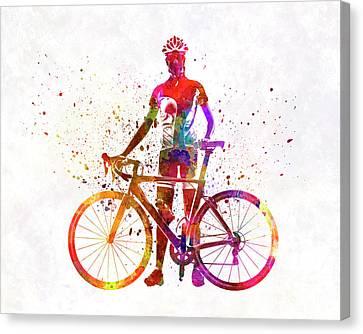 Woman Triathlon Cycling 02 Canvas Print