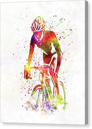 Ironman Canvas Print - Woman Triathlon Cycling 04 by Pablo Romero