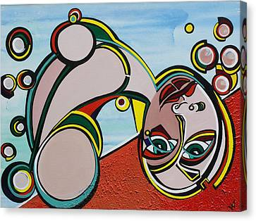 Woman Canvas Print by Valerie Wolf