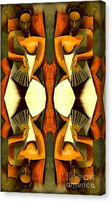 Woman With A Fan X4 Canvas Print by Picasso