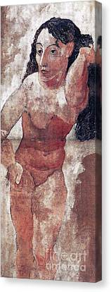 Woman With Comb Canvas Print by Pg Reproductions