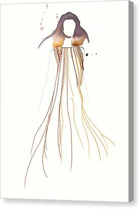 Woman With Dress From Chloe Canvas Print