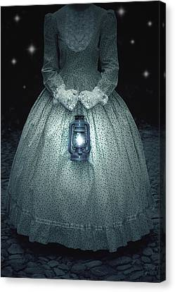 Woman With Lantern Canvas Print
