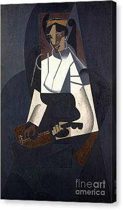 1916 Canvas Print - Woman With Mandolin by Juan Gris
