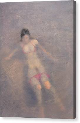 Women Are Like Water Canvas Print by Weiyu Xia
