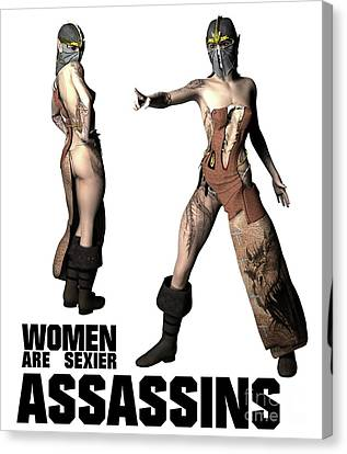 Women Are Sexier Assassins Canvas Print by Esoterica Art Agency