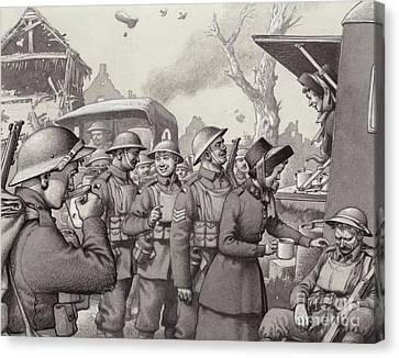 Women From The Salvation Army During The Great War Canvas Print by Pat Nicolle