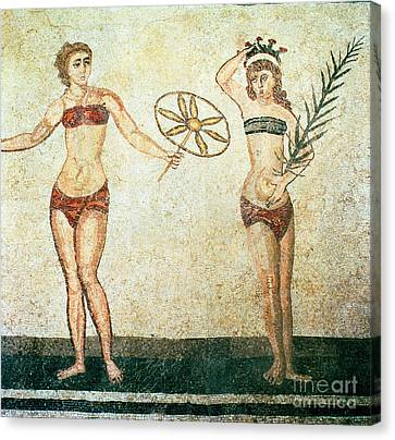 Women In Bikinis From The Room Of The Ten Dancing Girls Canvas Print by Roman School