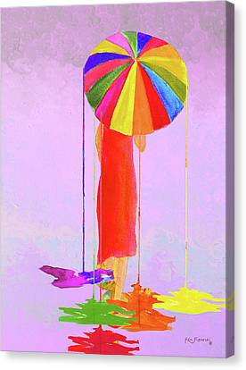 Women In Color 3 Canvas Print by Ken Figurski