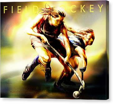 Women In Sports - Field Hockey Canvas Print