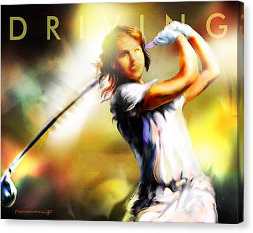 Women In Sports - Golf Canvas Print