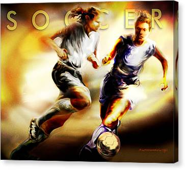 Women In Sports - Soccer Canvas Print