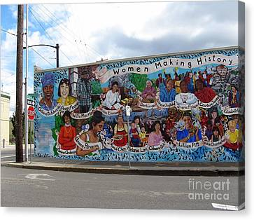 Women Making History Mural Canvas Print by Marlene Rose Besso