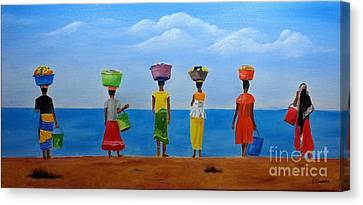 Women Of Africa  Canvas Print by Bev Conover