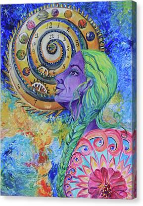 Sikh Art Canvas Print - Women Of The Future by Sarabjit Singh