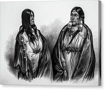Women Of The Snake And Cree Tribes Canvas Print