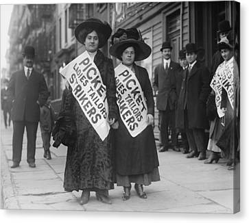 Women Strike Pickets From Ladies Canvas Print