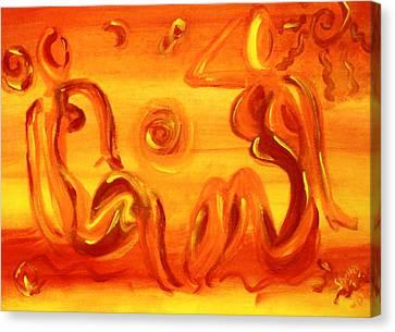 Women Sunning Canvas Print