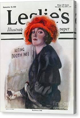 Women Voting, 1920 Canvas Print by Granger