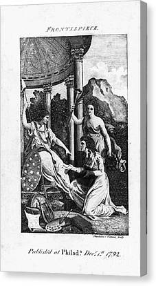 Womens Rights, 1792 Canvas Print