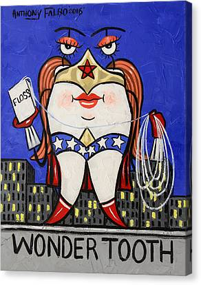 Wonder Tooth Canvas Print by Anthony Falbo