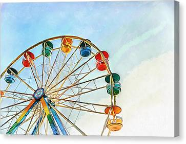 Canvas Print featuring the painting Wonder Wheel by Edward Fielding