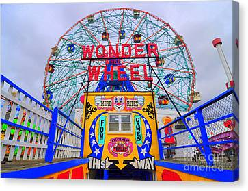 Wonder Wheel Canvas Print by Mark Gilman