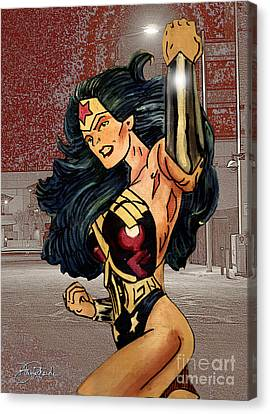 Wonder Woman Canvas Print by Bill Richards