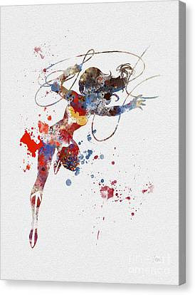 Wonder Woman Canvas Print by Rebecca Jenkins