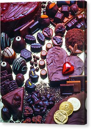 Bittersweet Canvas Print - Wonderful Assortment Of Chocolate by Garry Gay