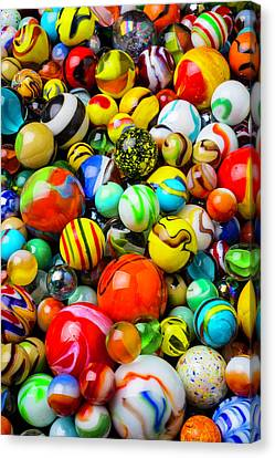 Wonderful Colored Marbles Canvas Print by Garry Gay