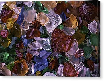 Wonderful Colored Sea Glass Canvas Print by Garry Gay
