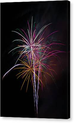 Wonderful Fireworks Canvas Print by Garry Gay