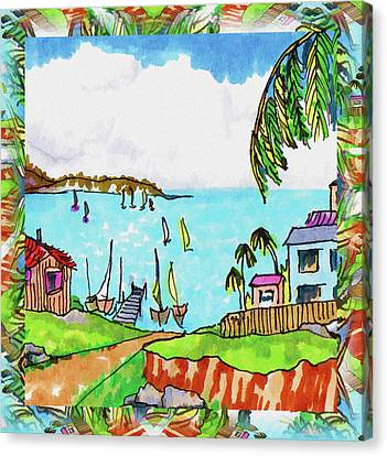 Wonderful Village Canvas Print by Margaret Wingstedt