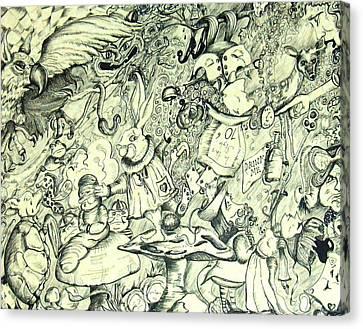 Wonderland Doodle Canvas Print