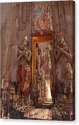 Wonders Door To The Luxor Canvas Print