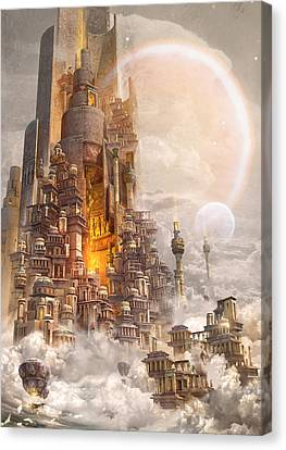 Science Fiction Canvas Print - Wonders Tower Of Babylon by Te Hu