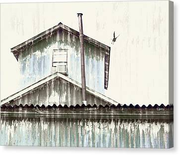 Galvanize Canvas Print - Wonky Stovepipe Industrial Art by Carol Leigh