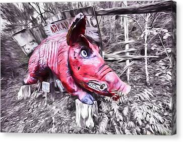 Woo Pig Sooie Digital Canvas Print by JC Findley