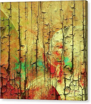 Canvas Print featuring the digital art Wood Abstract by Deborah Benoit