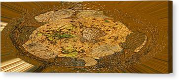 Canvas Print featuring the photograph Wood Abstracted by Lenore Senior