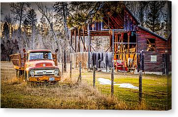 Wood And Rust Canvas Print