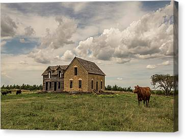 Wood And Stone House Canvas Print