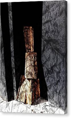 Wood And Wall Canvas Print