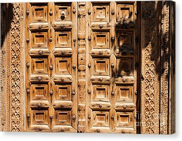 Wood Carved Doors Canvas Print by Bob Phillips