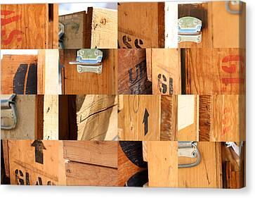 Wood Crates Canvas Print