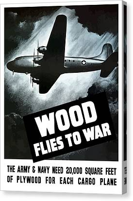 Wood Flies To War Canvas Print by War Is Hell Store