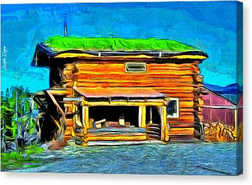 Wood House - Da Canvas Print